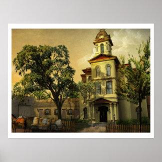 歴史的なCabarrusの郡庁舎 ポスター