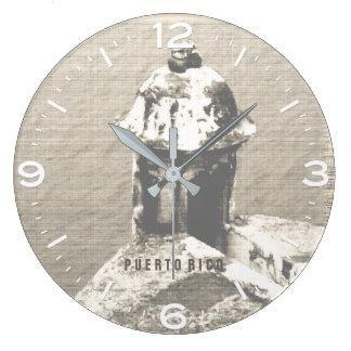 歴史的なEl Morroの城、プエルトリコ ラージ壁時計