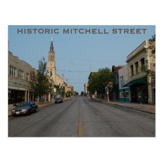 歴史的なMITCHELLの通りの郵便はがき ポストカード