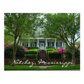 歴史的なNatchez、ミシシッピーのミルテ台地 ポストカード