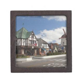歴史的なSolvangからの通り場面、「デンマーク語 ギフトボックス
