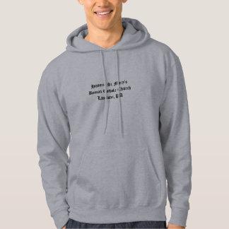 歴史的なSt Maryのフード付きスウェットシャツ パーカ
