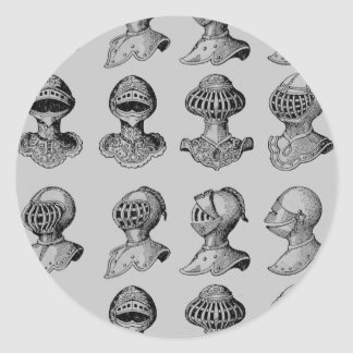 歴史的ヘルメット 丸型シール