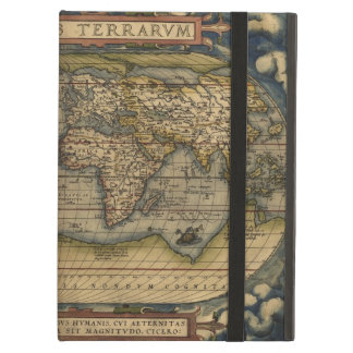 歴史的ヴィンテージの世界地図の地図書 iPad AIRケース