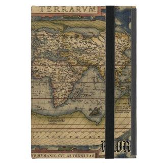 歴史的ヴィンテージの世界地図の地図書 iPad MINI ケース
