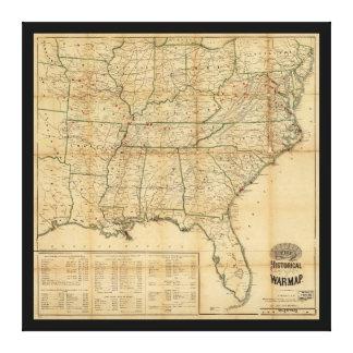 歴史的内戦の地図(1862年) キャンバスプリント