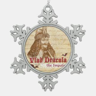 歴史的計算ドラキュラ スノーフレークピューターオーナメント