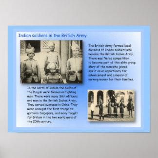歴史、   イギリス陸軍のインド兵士 ポスター