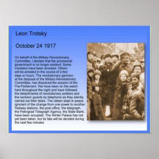 歴史、ロシア革命、Trotskyのスピーチ1917年 ポスター