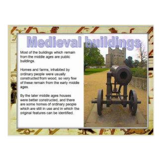歴史、中世源、建物 ポストカード