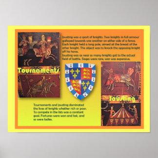 歴史、中世、中世トーナメント ポスター