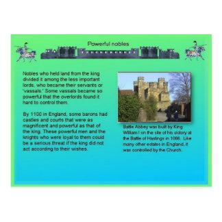 歴史、中世、強力な貴族 ポストカード