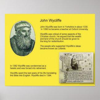 歴史、改革、ジョンWycliffe ポスター