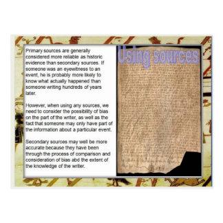 歴史、源を使用して中世源、 ポストカード