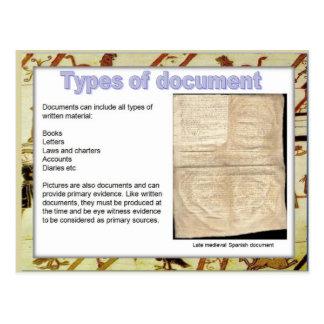 歴史、源、タイプの文書 ポストカード
