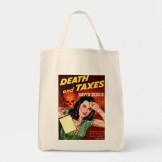 死および税-税のユーモア-オーガニックな食料雑貨のトート トートバッグ