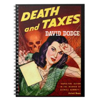死および税-税日のユーモア-螺線形ノート ノートブック