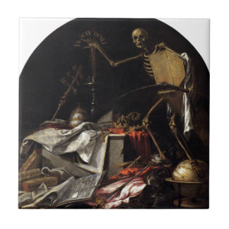死のアレゴリー: ファンde Valdes著Ictu Oculi タイル