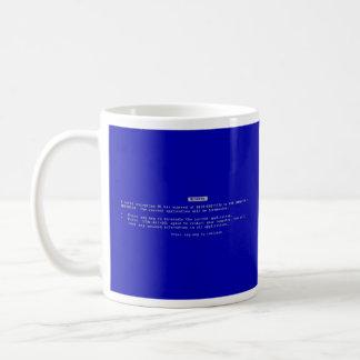死のコンピュータブルースクリーン コーヒーマグカップ