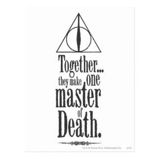 死のハリー・ポッターシリーズの綴り|のマスター ポストカード