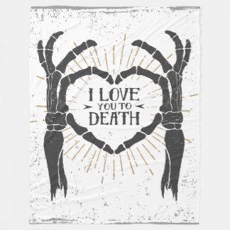 死のフリースブランケットへの愛 フリースブランケット