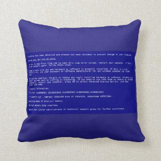 死の枕のブルースクリーン クッション