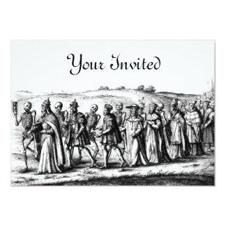 死の行列の招待状 カード