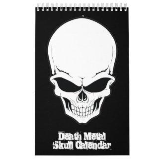 死の金属のスカルの頭蓋のコレクション カレンダー