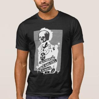 死の黒へのロックンロール Tシャツ