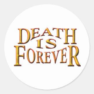 死は永遠です ラウンドシール