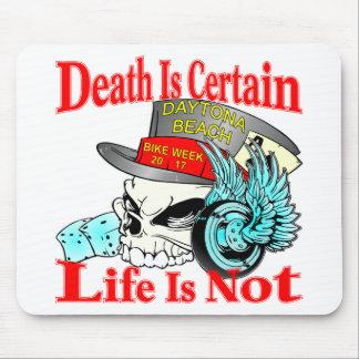 死は生命はバイクもしくは自転車に乗る人のスカルではないことを確かです マウスパッド