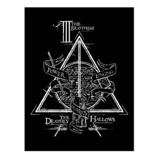 死んだようにハリー・ポッターシリーズの綴り|はグラフィックを神聖化します ポストカード