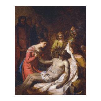 死んだキリストの哀悼の勉強 キャンバスプリント