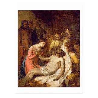 死んだキリスト(油oの哀悼の勉強 ポストカード