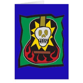 死んだギターSkul青いw/Greenの日 カード