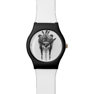 死んだシャーマン(b&w) 腕時計
