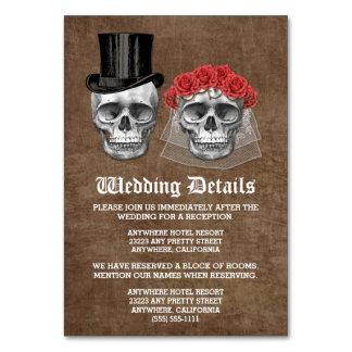死んだスカルの結婚式のエンクロージャカードの日 カード