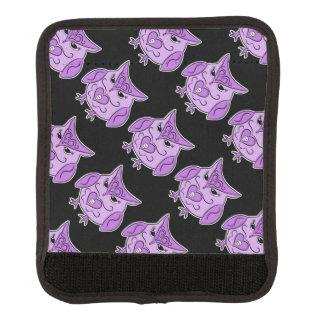 死んだスタイルの紫色のフクロウパターンのかわいい日 ラゲッジ ハンドルラップ