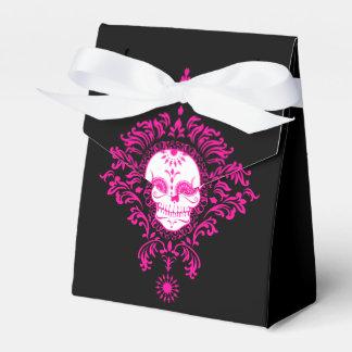 死んだダマスク織-カスタムな砂糖のスカルの好意箱 フェイバーボックス