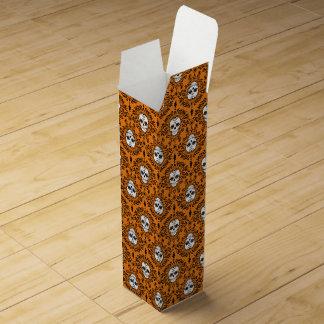 死んだダマスク織-シックな砂糖のスカルのワイン箱 ワインギフトボックス