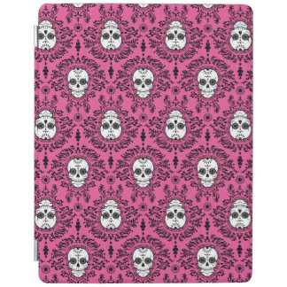 死んだダマスク織-シックな砂糖のスカル iPadスマートカバー