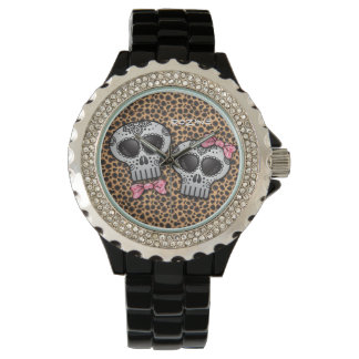 死んだチータSkull Dia de los Muertosの日 腕時計