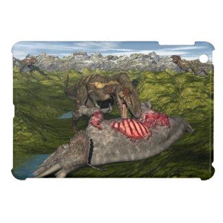 死んだトリケラトプスを食べるNanotyrannus iPad Miniケース
