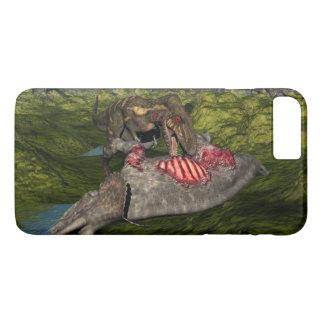 死んだトリケラトプスを食べるNanotyrannus iPhone 8 Plus/7 Plusケース