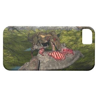 死んだトリケラトプスを食べるNanotyrannus iPhone SE/5/5s ケース