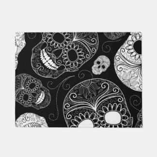 死んだモザイク芸術の黒及び白の日 ドアマット