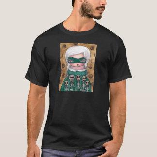 死んだワイシャツのハロウィンの女の子の骨組日 Tシャツ