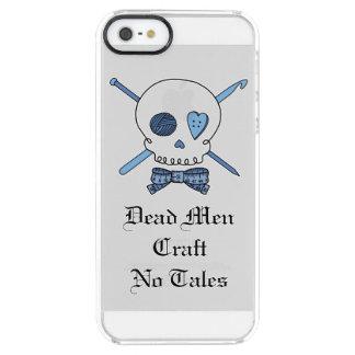 死んだ人は制作しません物語-技術のスカル(ちょうネクタイ)を クリア iPhone SE/5/5sケース
