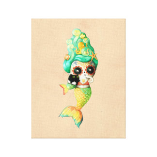 死んだ人魚の女の子の日 キャンバスプリント