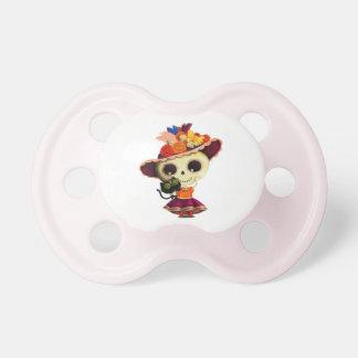 死んだ女の子のかわいいメキシコ日 おしゃぶり